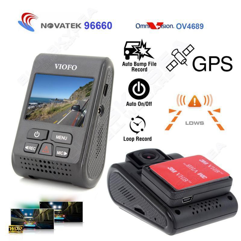 """Prix pour D'origine VIOFO Upgrated A119 V2 2.0 """"LCD Condensateur Novatek 96660 HD 2 K 1440 P Voiture Dash vidéo enregistreur DVR GPS En Option CPL Filtre"""
