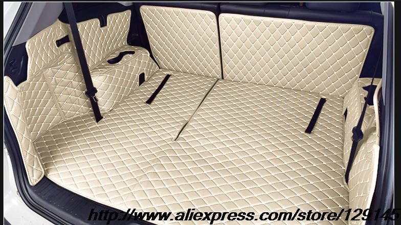 ФОТО All surround car trunk mat for Toyota 2015 Highlander 7seats 3D TPE+XPE Anti-slip leather trunk pad Customized  floor mat