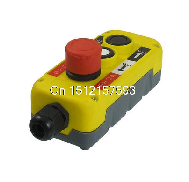 Red Emergency Stop Up Down Push Button Switch PG13.5 Cable 400V for Hoist Crane