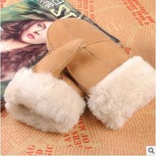 GLV836 men and women wool fur leather winter warm font b gloves b font motorcycle ride