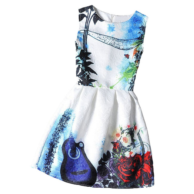 Aliexpress.com : Buy Girls formal dresses Teens designer Print ...