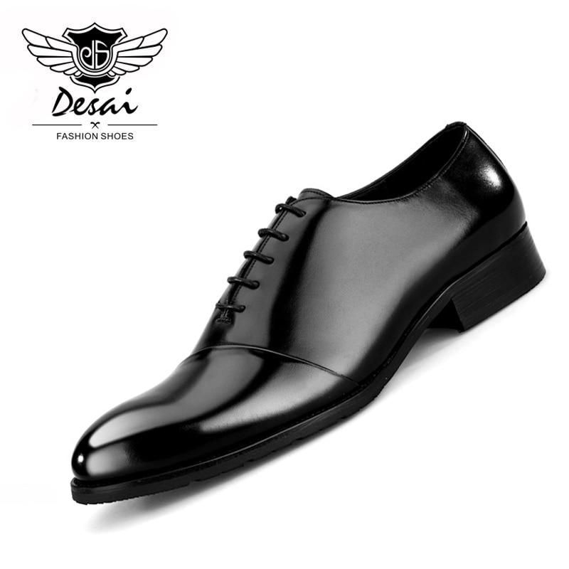 Nouveauté chaussures hommes d'affaires costumes en cuir Style britannique chaussures hommes habillent chaussures de mariage respirant Eur taille 38 44-in Chaussures d'affaires from Chaussures    1