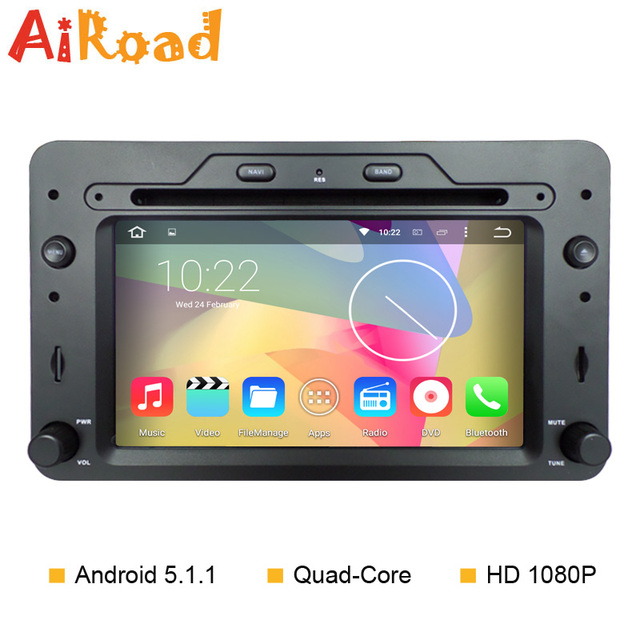 android 5 1 quad core car dvd player with gps for alfa. Black Bedroom Furniture Sets. Home Design Ideas