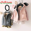 chifave Autumn Winter 2016 Cute Baby Boys Girls Clothes Sleeveless Lovely Rabbit Ears Children Vest for Boys Girls 2 Colors