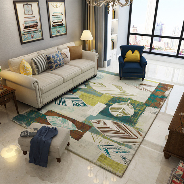 Panlonghome Modern Minimalist Rug Nordic American Country Living Room Coffee Table Carpeting Bedroom Bedside