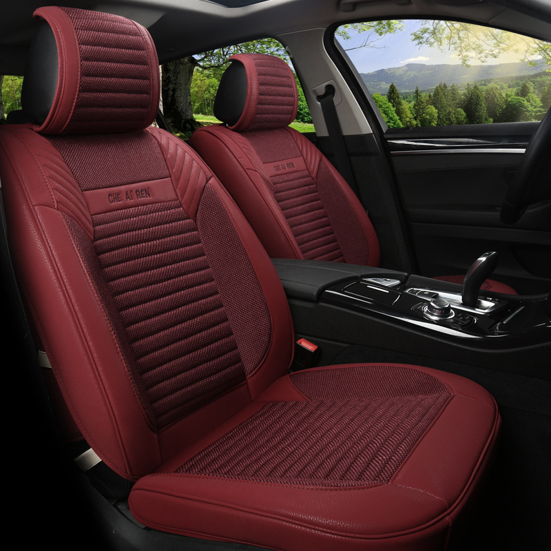 Linen Flax Leather Seat Covers For Nissan GTR 370Z Patrol NV200 Paladin  Pickup Versa Sentra Altima Bluebird Seat Protector N151 In Automobiles Seat  Covers ...