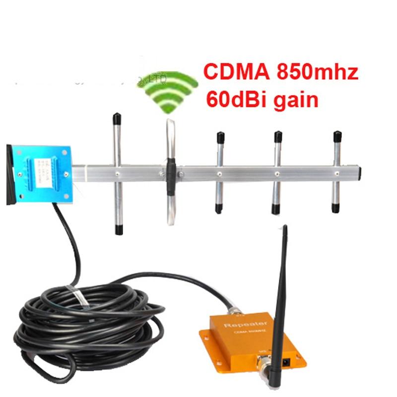 W/ 10M Cable & Yagi Antenna Gain 60dbi CDMA Repeater 850Mhz Signal Booster Cdma Booster Repeater,cdma Amplifier Signal Booster