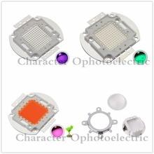 100W Red Green UV Full spectrum IR led chip +44mm Lens + Reflector bracket for diy kit