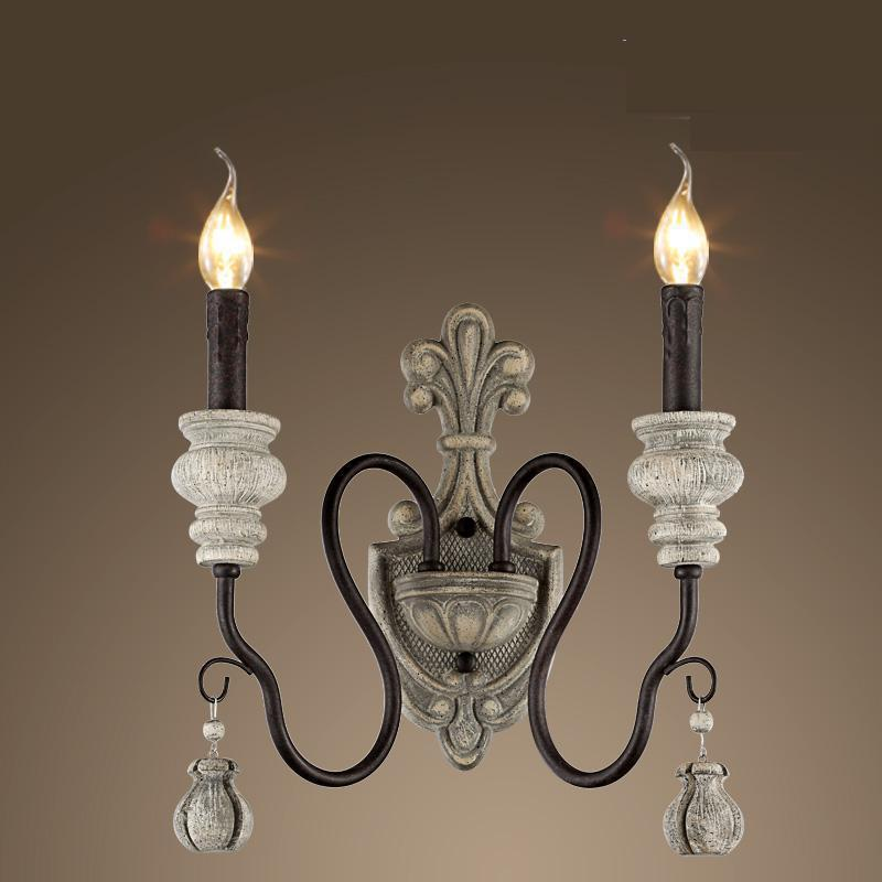 Luminaires d'intérieur maison & jardin support mural en résine led miroir lumière bohème rustique balcon entrée chevet applique murale en métal
