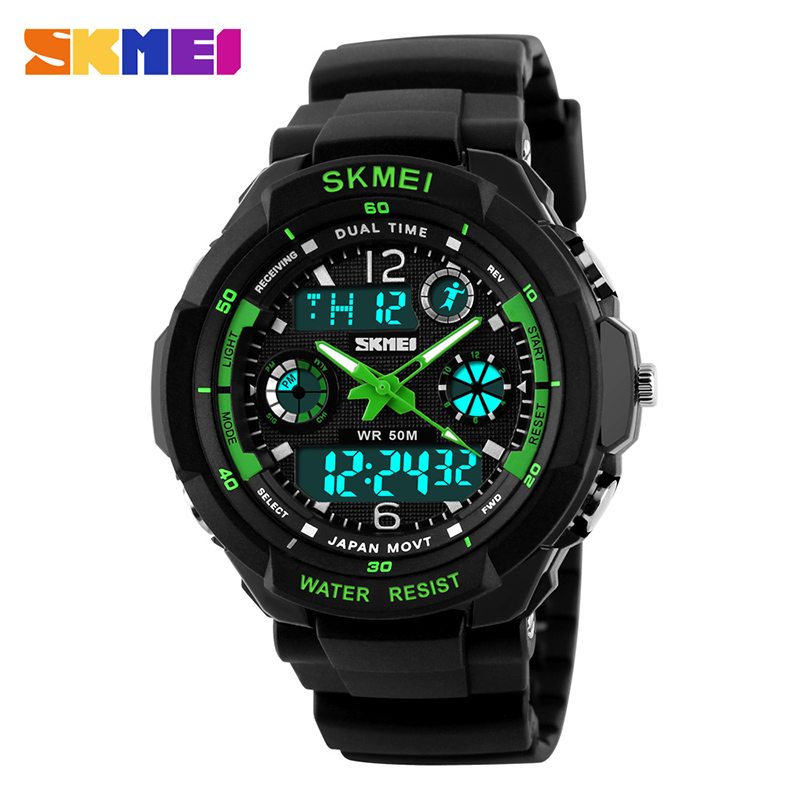 SKMEI 0931 Men Dual Display Wristwatches Digital Quartz Watch 50M Waterproof Fashion Outdoor Sports Watches Relogio Masculino