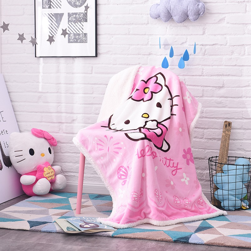 Winter Warm Blanket Sheet 100x140cm Wool-like Coral Fleece Thick Blanket Double Layer Blankie Bebe Envelope Baby Bedding Blanket thick warm double layer flannel plus sherpa man made lamb fur blanket 145x195cm