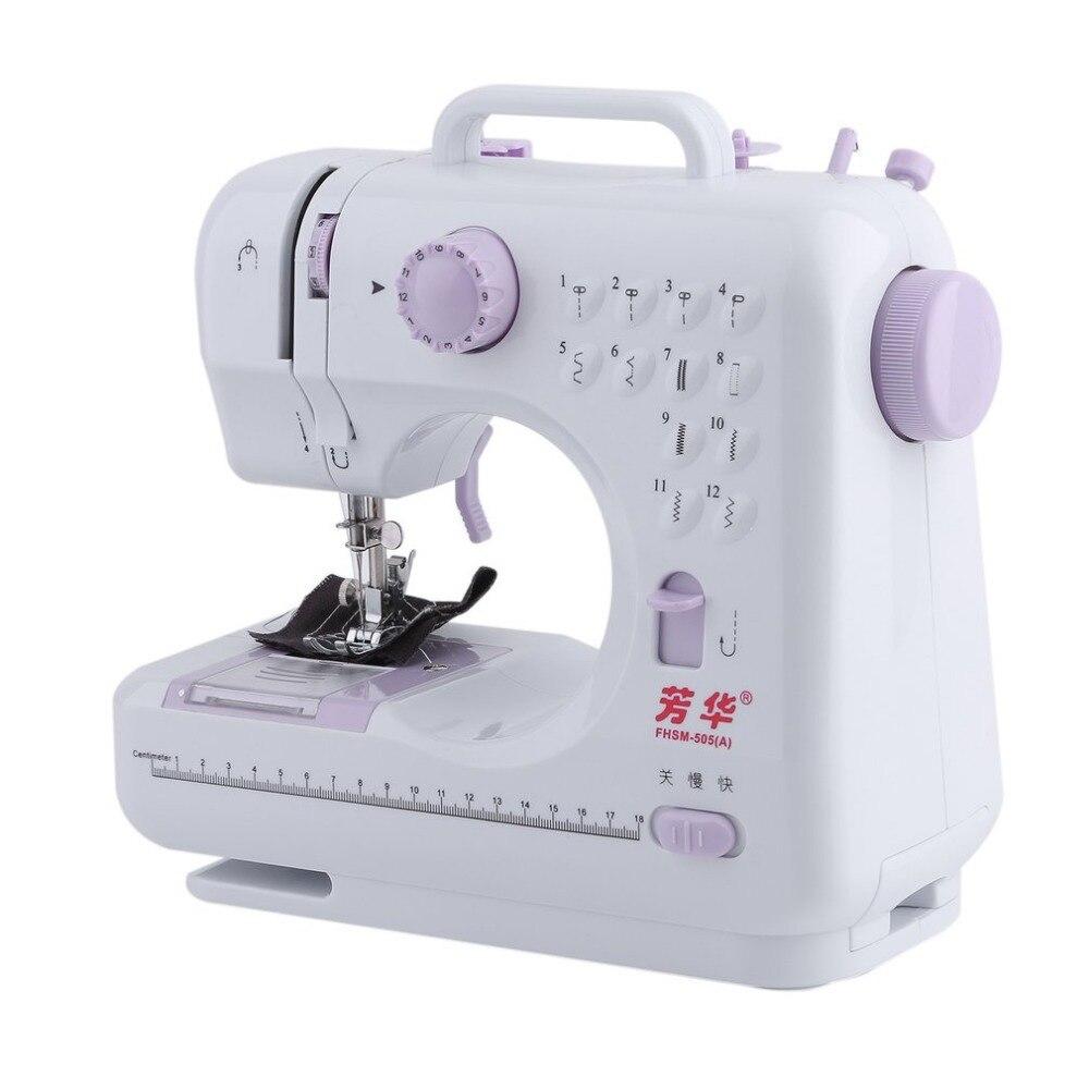 Machines à coudre électriques 12 points Mini Machine à coudre 505A Machine à tricoter multifonction électrique remplaçable pied-de-biche
