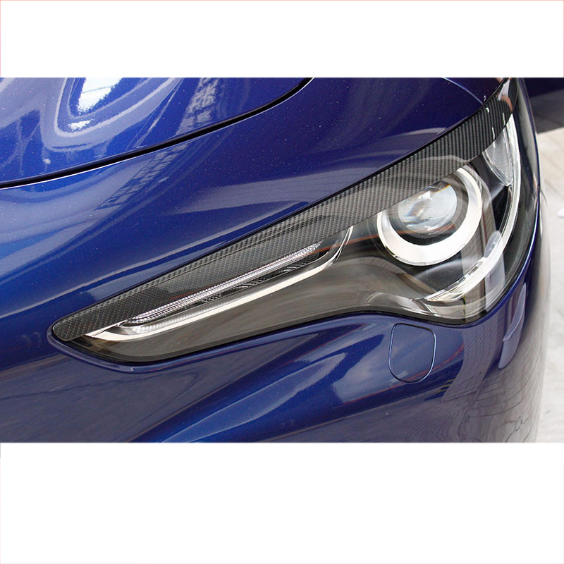Lsrtw2017 Real Carbon Fiber Car Headlight Brow Sticker Decoration for Alfa Romeo Stelvio 2016 2017 2018 2019 2020 in Interior Mouldings from Automobiles Motorcycles