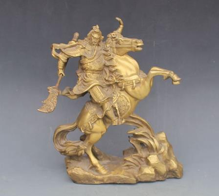 #5 antique QingDynasty copper statue / sculpture fighting skill Mammon,hand carved crafts /collection & adornment,Free shipping