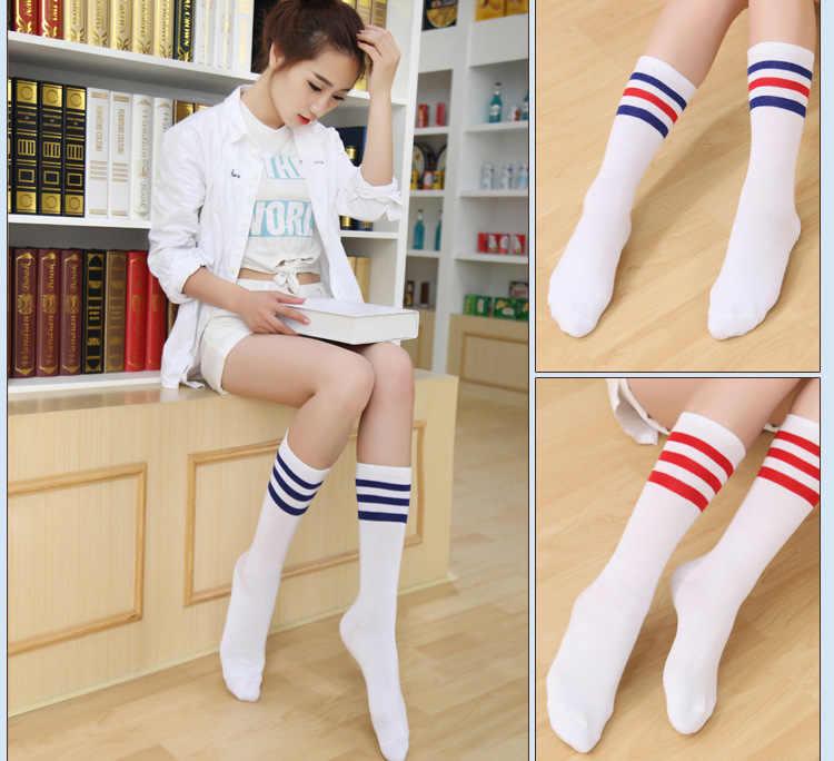 01aacaf93 ... Hot Newly Fashion Sexy Striped Women s Long Socks Thigh High Over Knee  High Socks Kawaii Cute ...