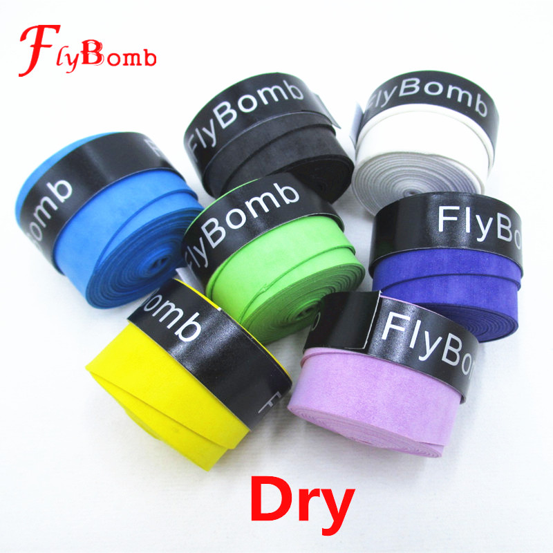 FlyBomb 10PCS Badminton Racket OverGrips Dry Anti-skid Sweat Absorbed Wraps Taps Tennis Grips Racquet Overgrip Sweatband L415-10