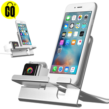 цена на Desk Charging Dock station for iPhone x/8 for Apple Watch stand table base  Aluminum mobile support phone Holder for ipad