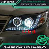 Car styling auto Part Style LED Head Lamp for Subaru Forester 2008 2012 led headlights drl hid Bi Xenon Lens low beam