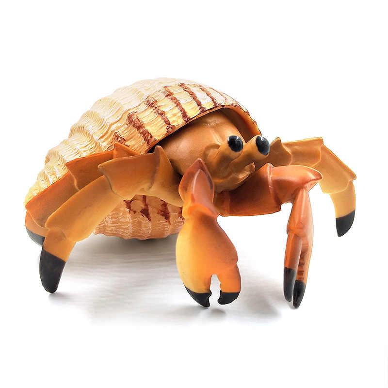 Simulação mar baixo peixe polvo eremita caranguejo animal modelo plástico pvc figura decoração para casa acessórios decoração presente para crianças brinquedo