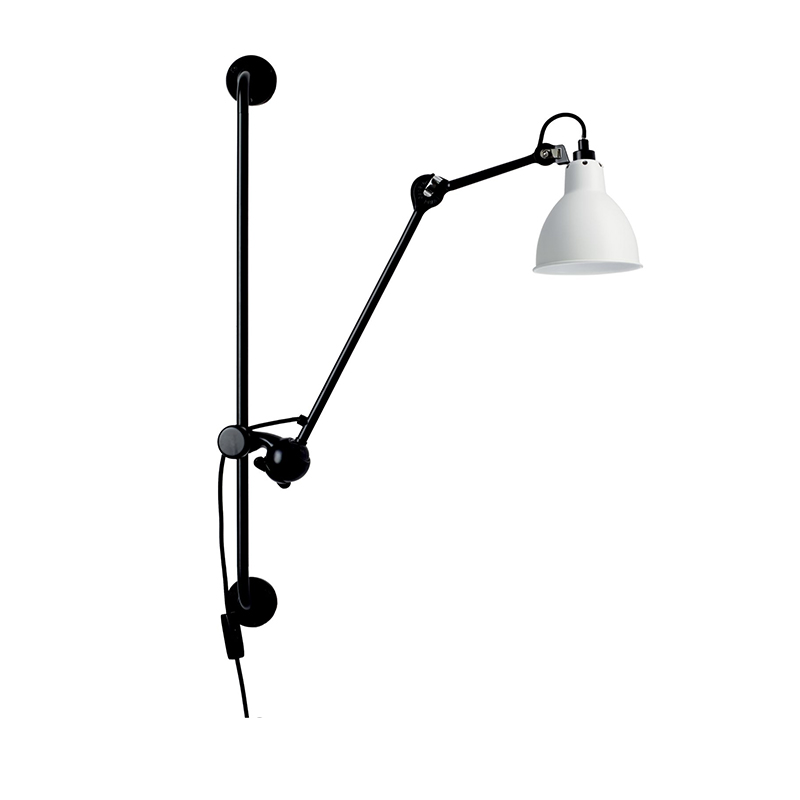 Industrial rooms loft decor vintage wall lamps Black Color led bedside lamp light on the wall adjustable led hoses wall lamp in LED Indoor Wall Lamps from Lights Lighting