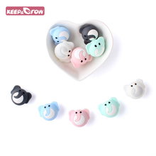 4/8/12pcs Silicone Beads Cute elephant Silicone Teething Beads Accessories silicone rodent Making Ne
