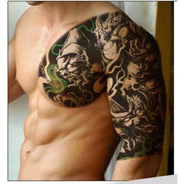 1pcs skull fish totem temporary tattoo stickers devil