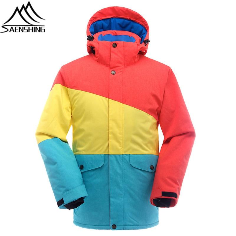 SAENSHING Brand Ski Jacket Snowboard Coat Men Waterproof Windproof Winter Jacket Male Outdoor Skiing And Snowboarding Sportswear