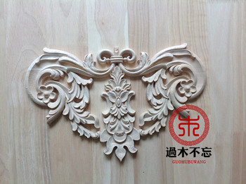Wood dongyang wood carving wood fashion applique ofhead fireplace applique gate flower decoration
