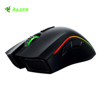 Original Razer Mamba Chroma Professional Grade Wired/Wireless Ergonomic Gaming Mouse eSports 16000 DPI Sensor Side Buttons Black
