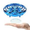 Радиоуправляемые игрушки против столкновений  ручной летающий самолет НЛО  радиоуправляемые игрушки  светодиодная Подарочная подвеска  ми...
