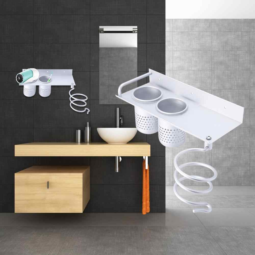 Multi-function Bathroom Shelf Storage Wall Mounted Rack Space Organizer Holder Hairdryer Toothbrush Toilet Aluminum Shelf