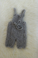 Newborn Overalls For Newborn Photo Prop Softest Knitted Hand Knit Baby Gift Baby Boy Outfit