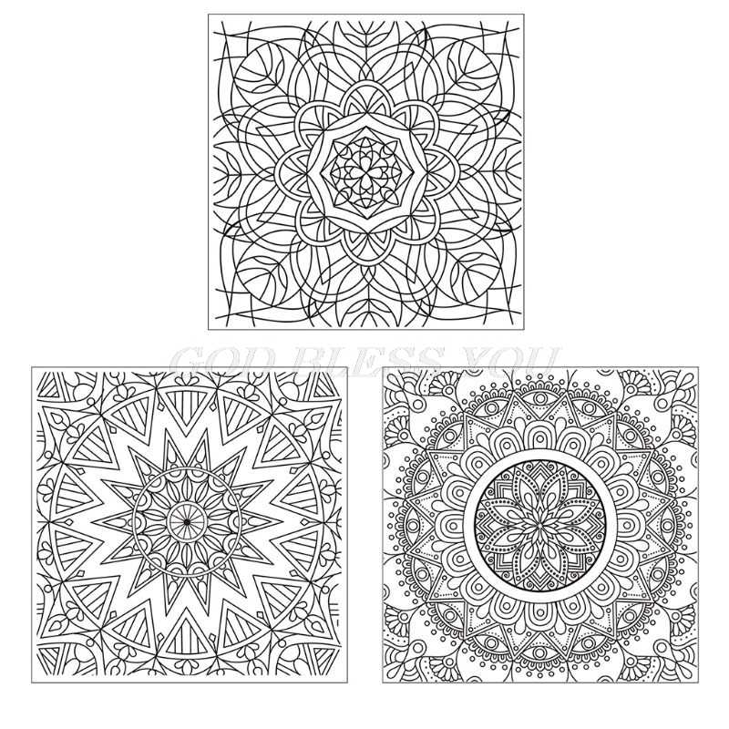 Mandala Diy Siliconen Clear Stempel Cling Seal Scrapbook Embossing Album Decor