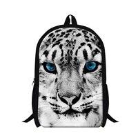 Белый тигр школьные портфели Прохладный животных леопардовый Рюкзак мешок для детей Мода Panda Bookbags для Обувь для мальчиков подростков сакво...