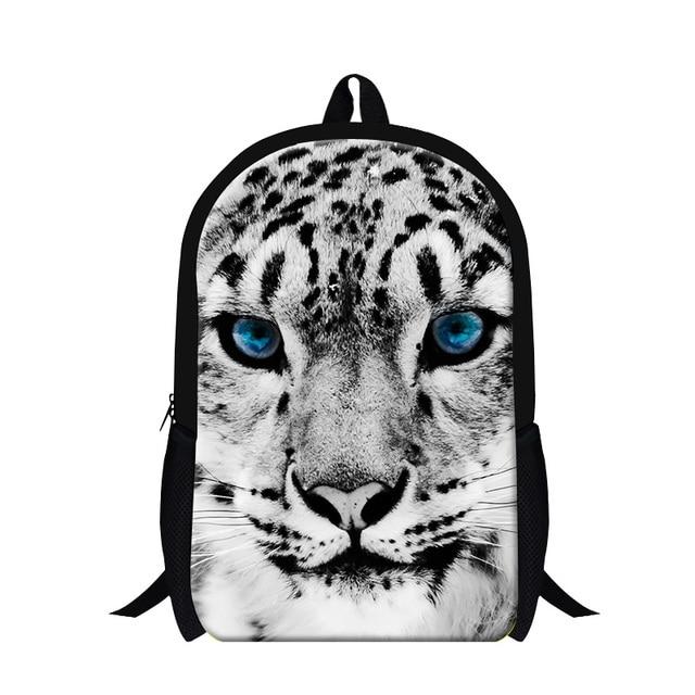29ee9e97e4 White Tiger School Bookbags Cool Animal Leopard Backpacking Bag for Children  Fashion Panda Bookbags for Boys