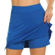 Женские шорты для активного отдыха, быстросохнущие, Женская юбка для бега, тенниса, с шортами, внутренняя легкая, шорты для тренировки гольфа, шорты, юбки для тенниса