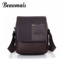 Beaumais 2017 Hot Sale PU Leather Men Handbags Fashion Men Messenger Bags Small Business Crossbody Shoulder Bags For Men AA195