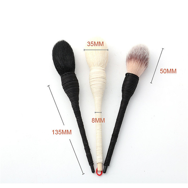 SAIANTTH Yachiyo Kabuki Brush 3 color Persian synthetic goat hair Natural rattan blush brushes Professional makeup maquiagem 4