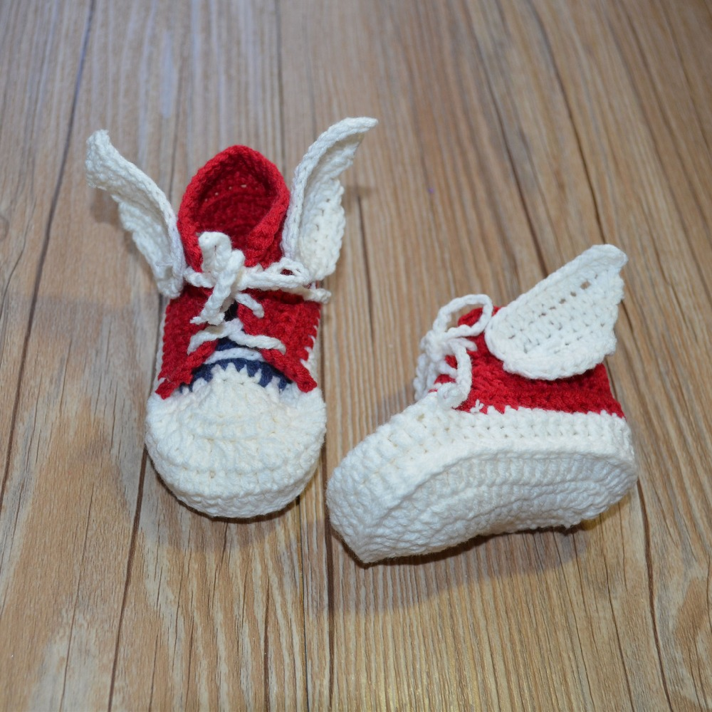 QYFLYXUE- Cotton handmade crochet knitting, baby shoes, toddler shoes, angels wing shoes,lots clours