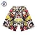 Moda de nova adorável 3d shorts dos homens de impressão 3d Zumbi malha respirável calções de praia casual Hip Hop calças curtas