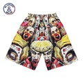 New Fashion Men's lovely 3d shorts 3d print Zombie mesh breathable casual beach shorts Hip Hop short pants