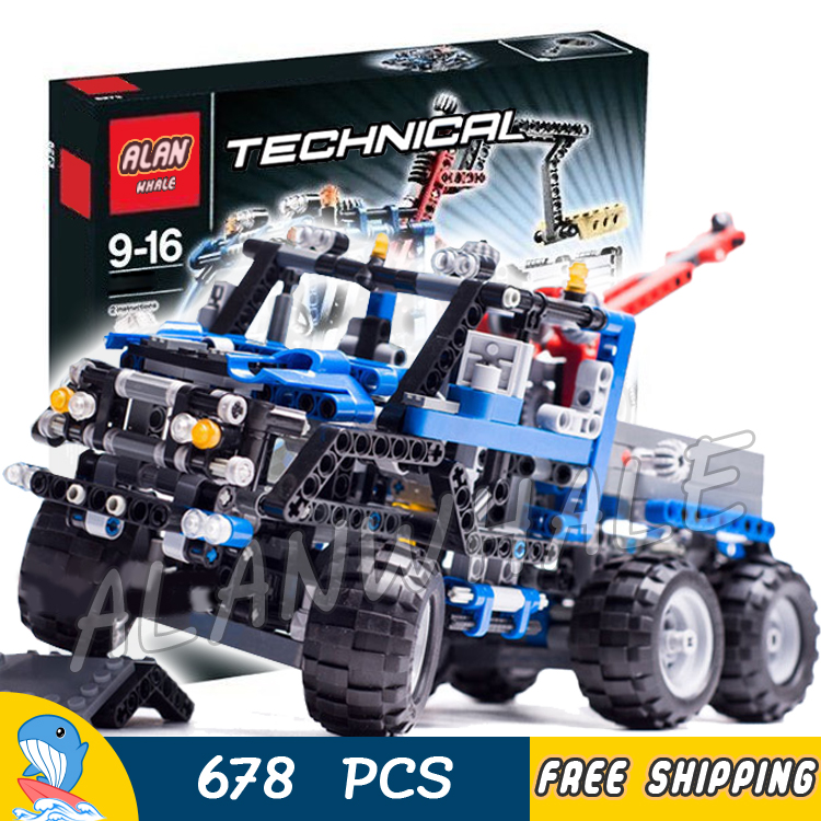 678pcs Technic Road Truck minicar diecast cars automobile miniature 3332 Model Building Blocks Boys Toys Compatible With lego red mitsubishi lancer fortis diecast model show car miniature toys classcal slot cars