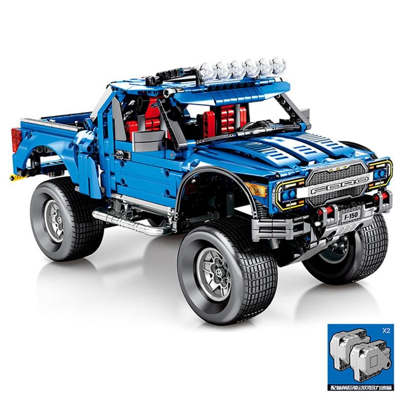 Technic PICK UP F 150 SVT Raptor Building Blocks Set Bricks Classic Car Model Kids Toys