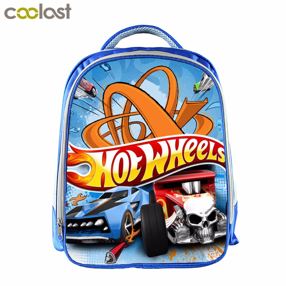 Hot Wheels Backpack For Little Boys Girls Car Cartable Enfant Children Kindergarten School Gift Bag Mochila
