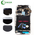 i337 i9506 LCD For Samsung S4 Lcd Screen Digitizer with frame Assembly AAA Mobile Phone White Black Blue +Tools