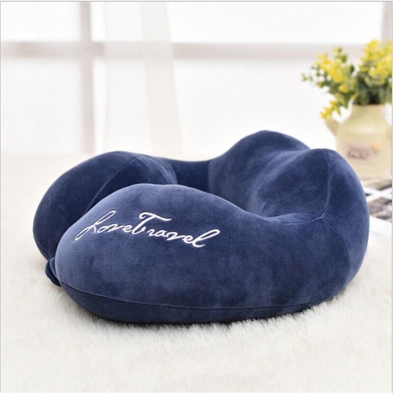 Новые u-образные подушки для защиты шеи из пены памяти мягкие медленный отскок космическая Подушка твердый шейный затылочный медицинский Подушка для беременных - Цвет: Navy