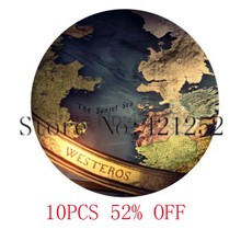 Game of thrones westeros map Glass Photo Cabochon Necklace keyring bookmark cufflink earring(China)