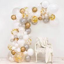 98 יח\סט ורוד בלון קשת ערכת צבעוני לטקס בלונים זר חתונה מסיבת בלוני תינוק מקלחת אספקת תפאורה רקע