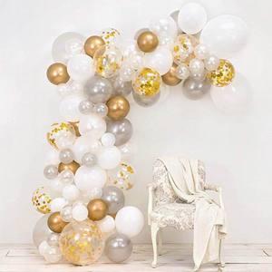 Image 1 - 98 ピース/セットピンクバルーンアーチキットカラフルなラテックスバルーン花輪ウェディングパーティーバルーンベビーシャワー用品の背景の装飾