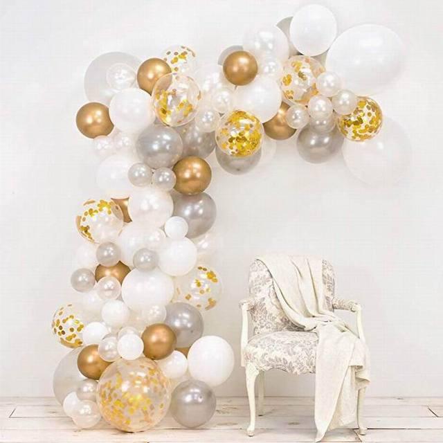 98 ピース/セットピンクバルーンアーチキットカラフルなラテックスバルーン花輪ウェディングパーティーバルーンベビーシャワー用品の背景の装飾